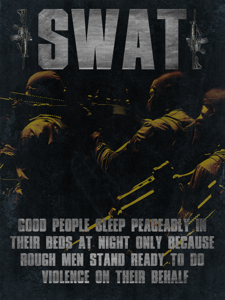 swat team research paper Lapd swat team the concept of special weapons and tactic teams originated in the late 1960's as a response to several sniping incidents against civilians and police.