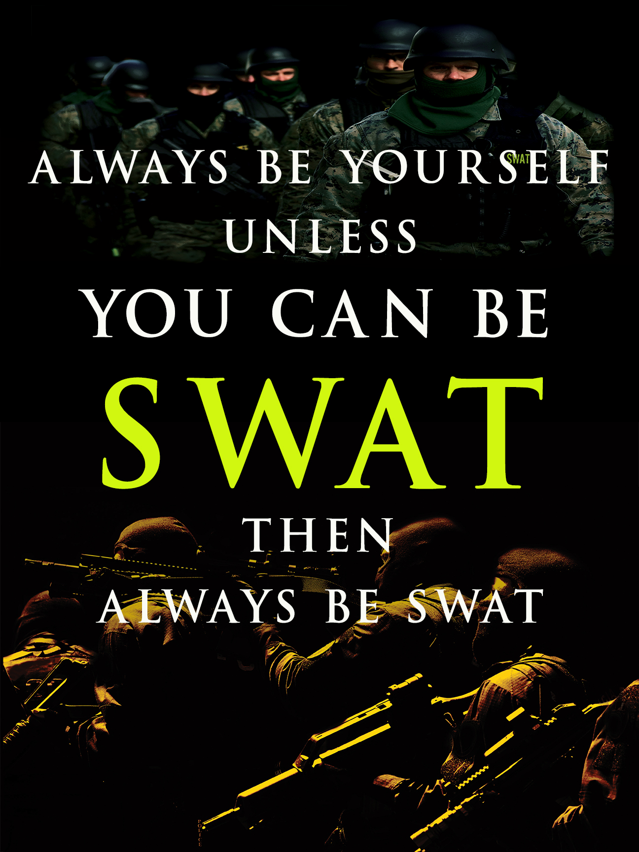 swat team essays In most cases, swat team members are pooled from the ranks of patrol officers, detectives, and even supervisors and sometimes command staff these officers typically serve as swat team members as an additional duty to their regular jobs, so that swat is not a full-time career in itself.